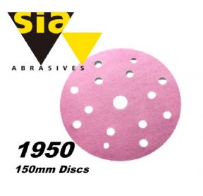 Sia Siaspeed 1950 Velcro Sanding Disc 150mm 15-hole all grades